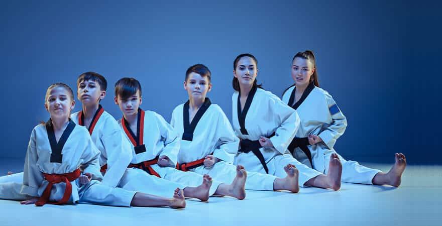 Martial Arts Lessons for Kids in Angleton TX - Kids Group Splits