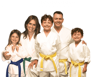Martial Arts Lessons for Families in Angleton TX - Group Family for Martial Arts Footer Banner