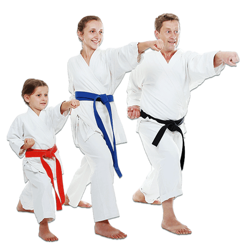 Martial Arts Lessons for Families in Angleton TX - Man and Daughters Family Punching Together