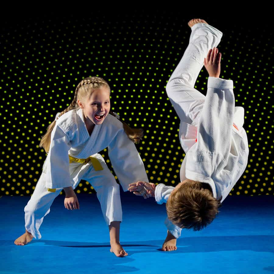 Martial Arts Lessons for Kids in Angleton TX - Judo Toss Kids Girl