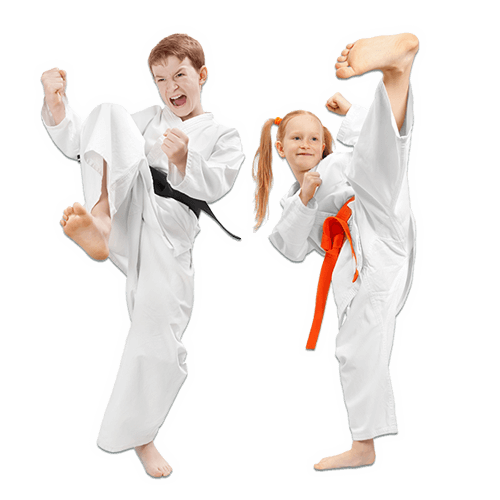 Martial Arts Lessons for Kids in Angleton TX - Kicks High Kicking Together